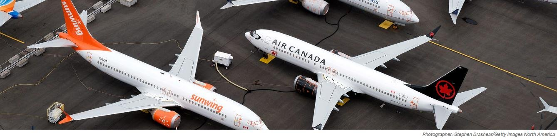 Screen shot of stored aircraft