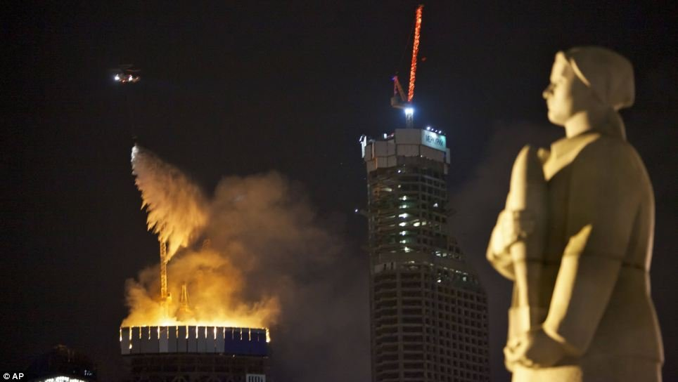 Federation tower fire